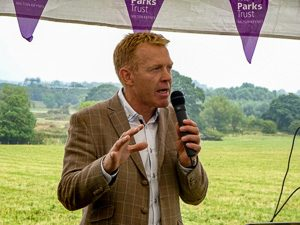 Adam Henson by Julie Lane at the Floodplain Forest NR opening opening ceremony on 25 August 2016