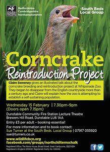 Corncrake Reintroduction Project poster