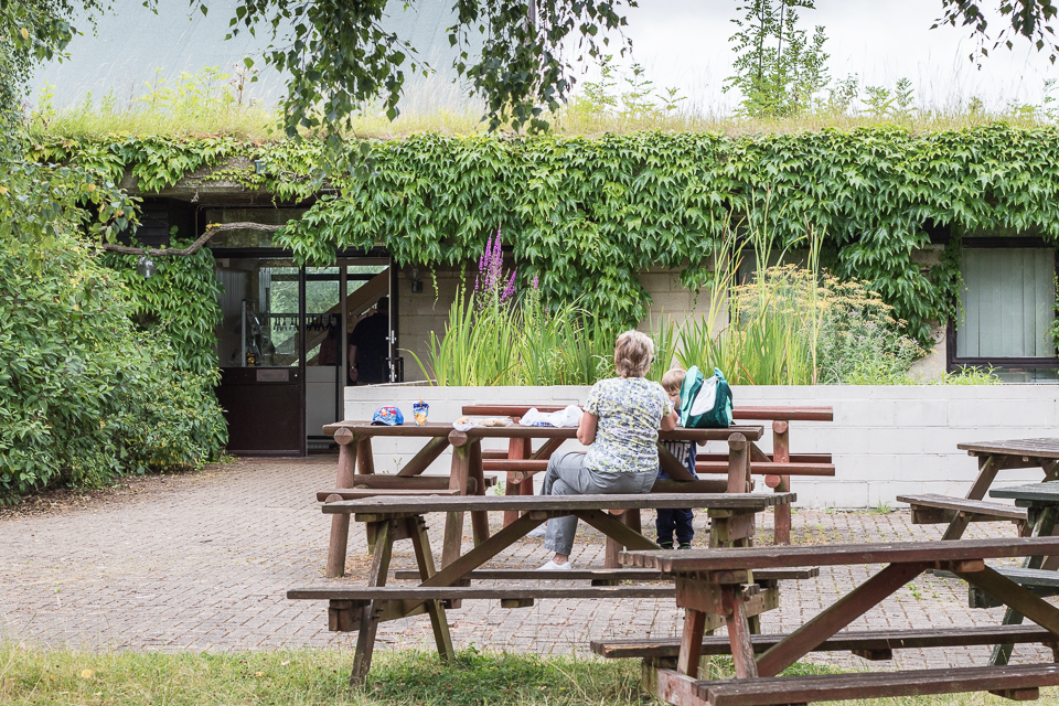 Linford Lakes Nature Reserve visitors enjoying an Open Sunday