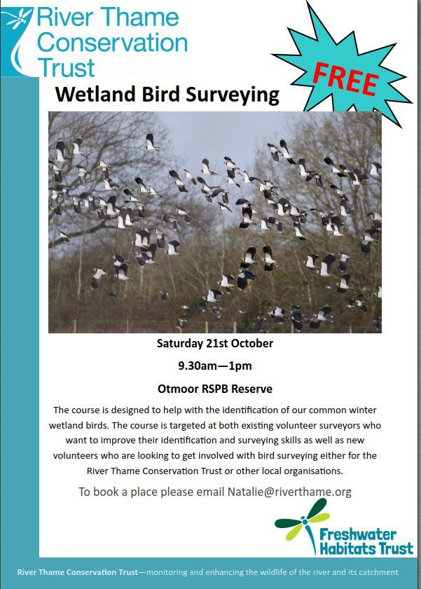 Wetland Bird Surveying course 21 October 2017