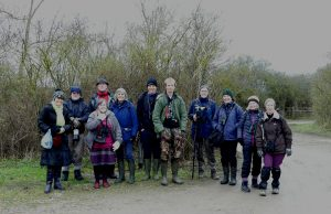 Group photo Milton Keynes Natural History Society at Otmoor 13 January 2018