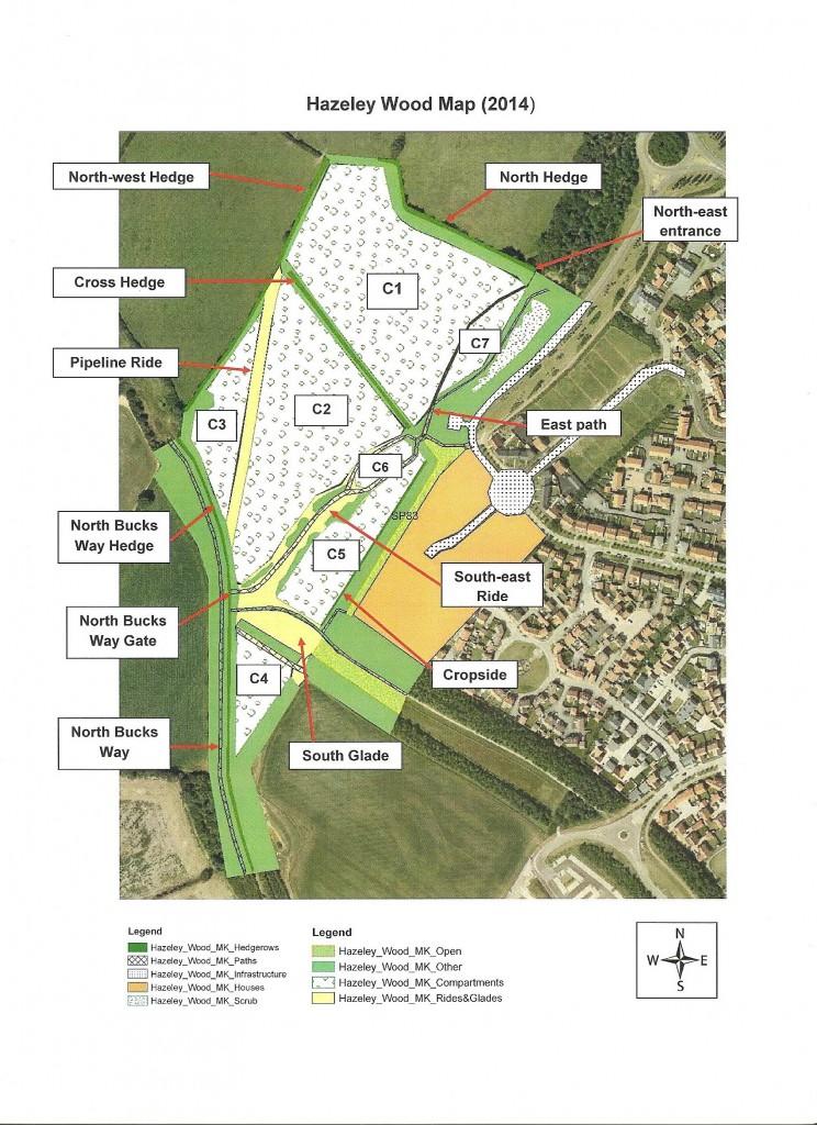 Hazeley Wood Map
