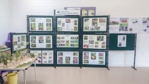 Milton Keynes Natural History Society display boards at Howe Park Wood