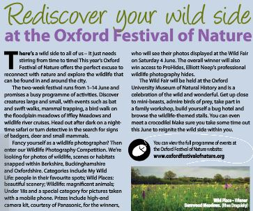Oxford Festival of Nature June 2016