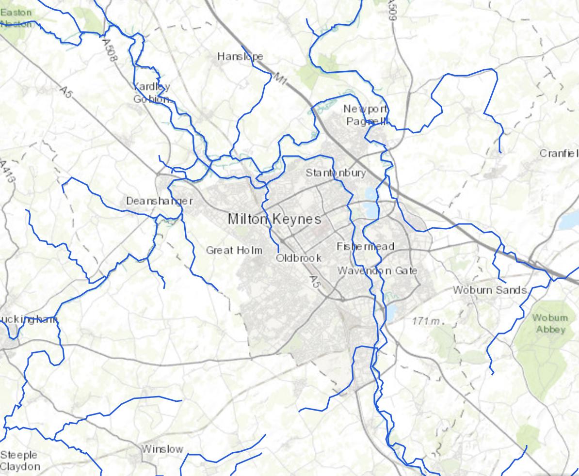 Online UK Rivers Map Milton Keynes Natural History Society