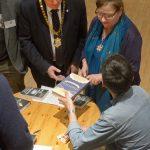 Patrick Barkham signing books